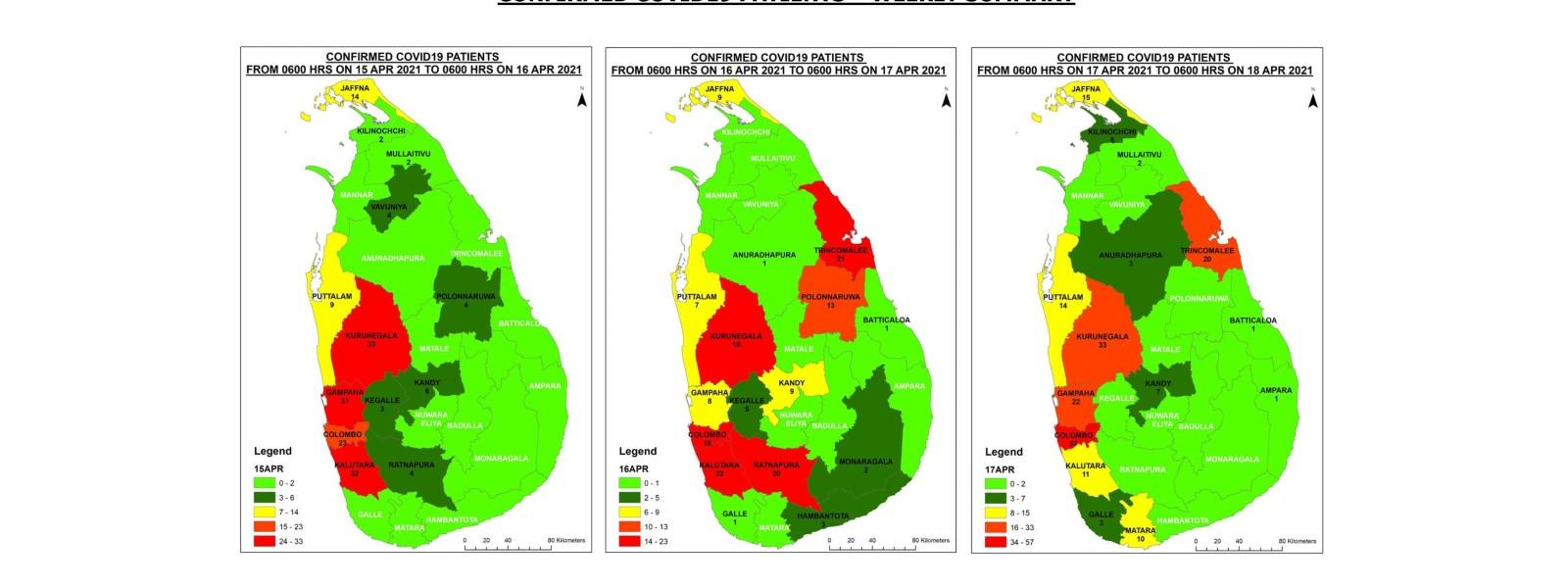 4,090 COVID-19 cases reported from Sri Lanka in April 2021