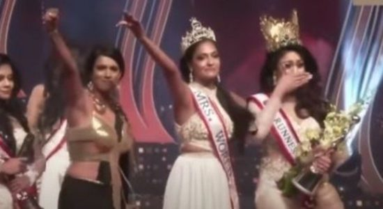 Mrs World Caroline Jurie arrested, following Mrs. Sri Lanka fiasco