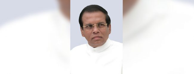 Sirisena issues message in line with New Year