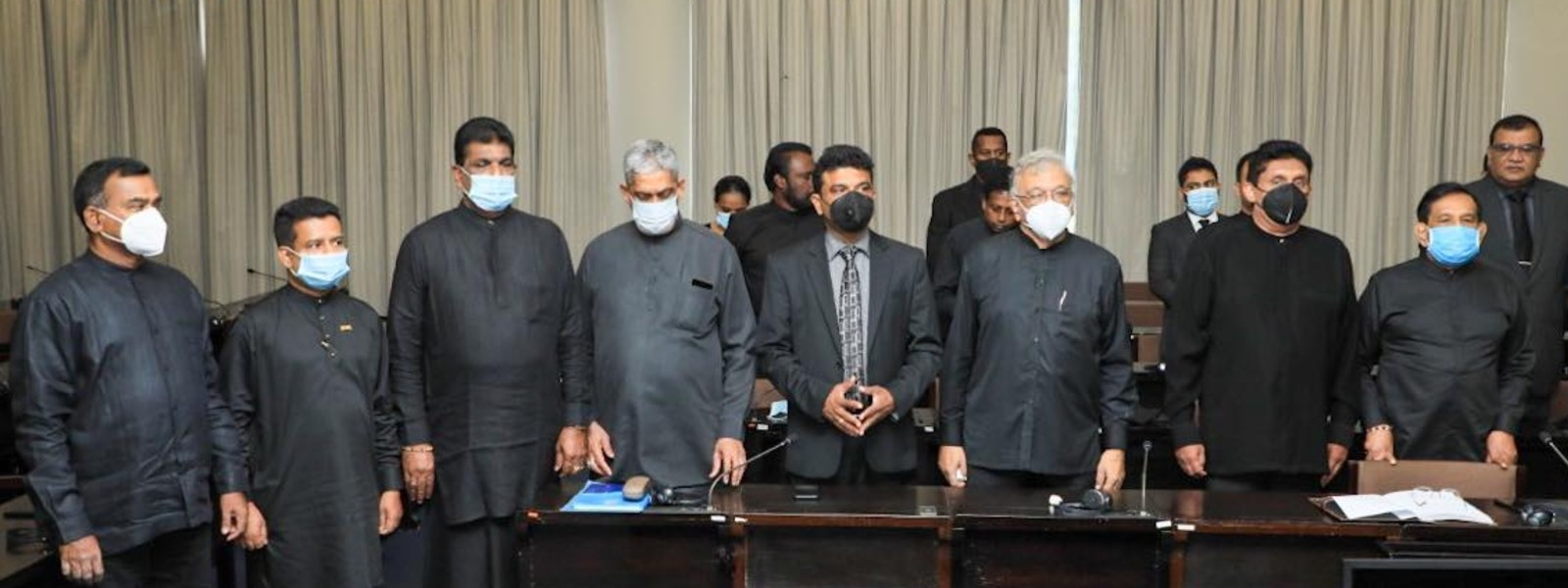 (PICTURES) Opposition goes all black to remember 2019 Attack victims
