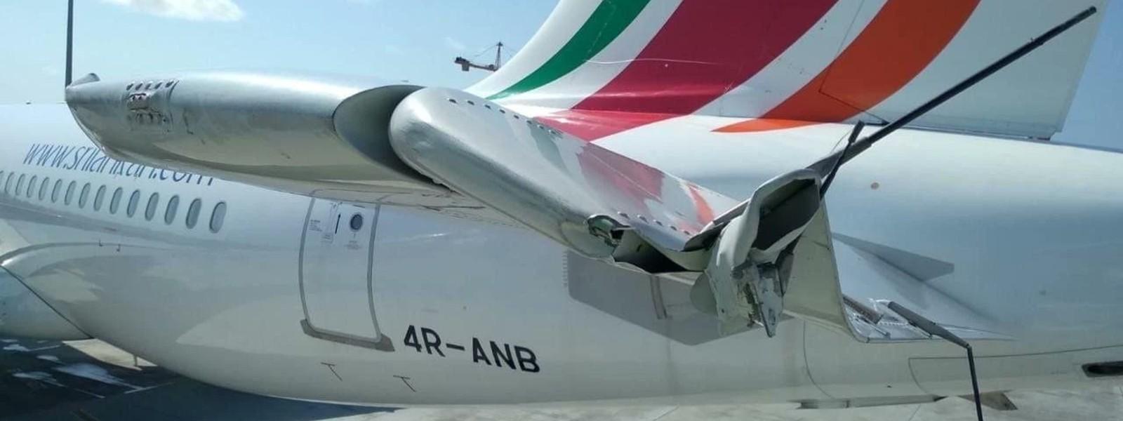SriLankan Flight Damaged In Male In Ground Vehicle Collision