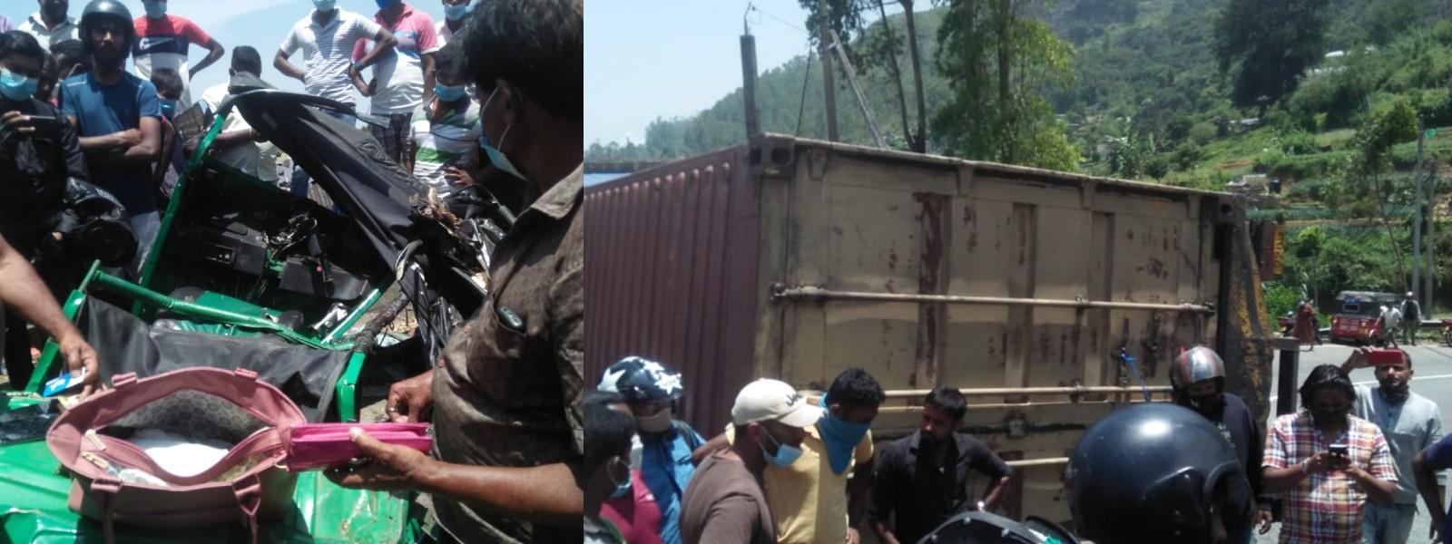 N'Eliya Tragedy: 03 dead in three-wheeler & lorry collision