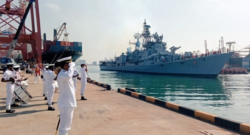 Indian Navy destroyer INS Ranavijay in Sri Lanka