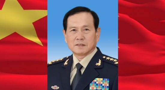 China's Defense Minister in Sri Lanka on 27th April