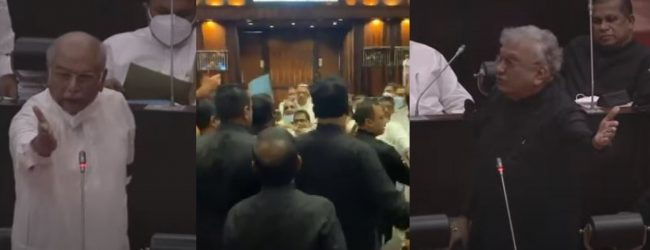 Chaos in parliament over PCoI report; session adjourned for brief moment