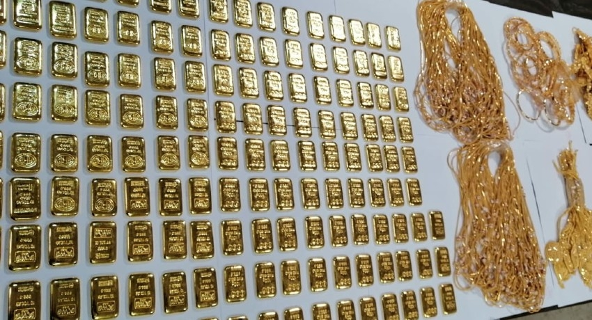 Rs. 317 Million worth Gold Biscuits & Jewellery seized at BIA