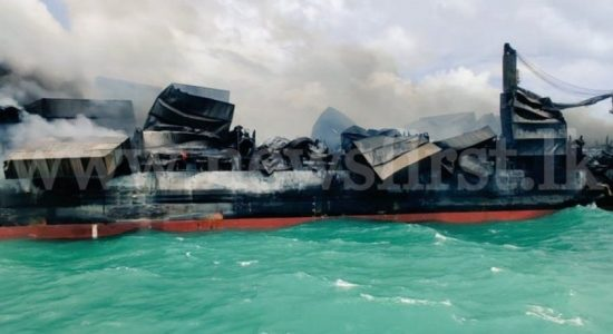 (VIDEO) MV X-PRESS PEARL Fire controlled; Experts awaiting to assess situation