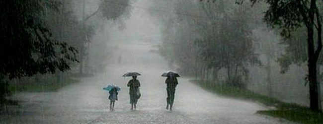 Showery conditions to enhance; heavy rains exceeding 100mm likely
