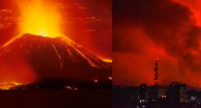 Congo volcano erupts for first time in years, sending people fleeing from major city