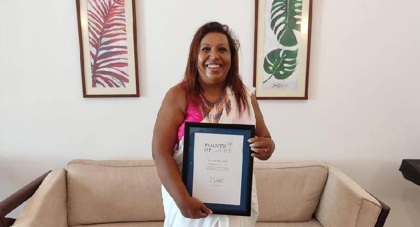 Marini De Livera recognized with Points of Light Award