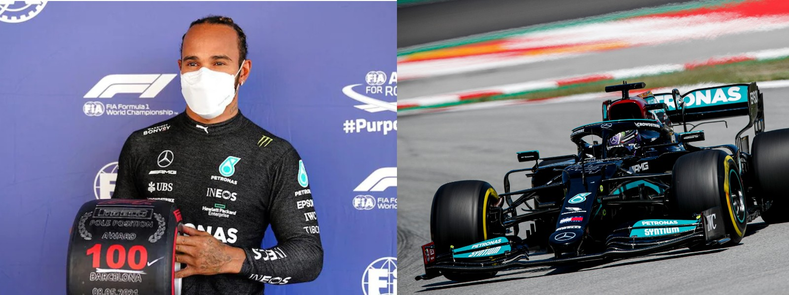 Hamilton beats Verstappen to take 100th career pole in Spain