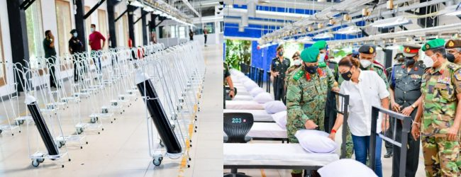 (PICTURES) Sri Lanka's largest Army-improvised COVID-19 Hospital to be ready soon