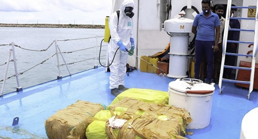 Navy recovers Kerala cannabis worth over Rs. 55 mn in northern seas