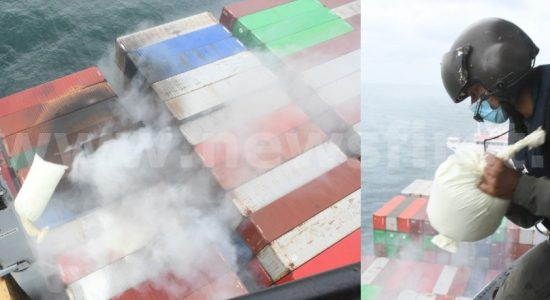 NBRO to test air quality after X-Press Pearl fire in seas off Colombo