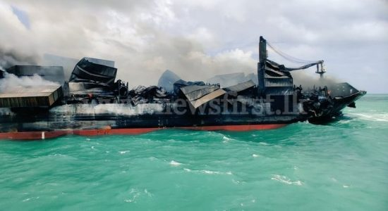 Fire aboard X-PRESS PEARL subsiding; says Navy & Beach Clean-up underway