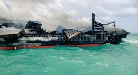 Operations continue to completely douse the fire on board X-Press Pearl