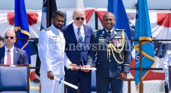 Naval Officer graduates with Honors at USCG Academy; Takes stage with President Biden