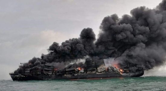 No oil spill detected following X-PRESS PEARL fire; says SLPA