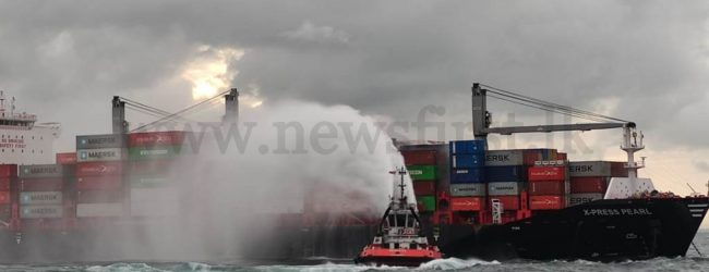 X-PRESS PEARL: 02 Indian crew members admitted to Hospital