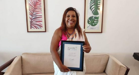 Marini De Livera recognized with Points of Light Award