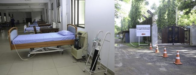 Intermediate Care Centre for COVID-19 established at Boossa naval base