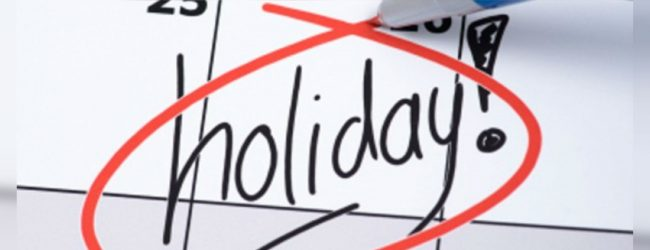 Special Government Holiday Next Week