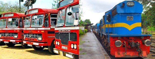 NO public transport services during Travel Restriction period