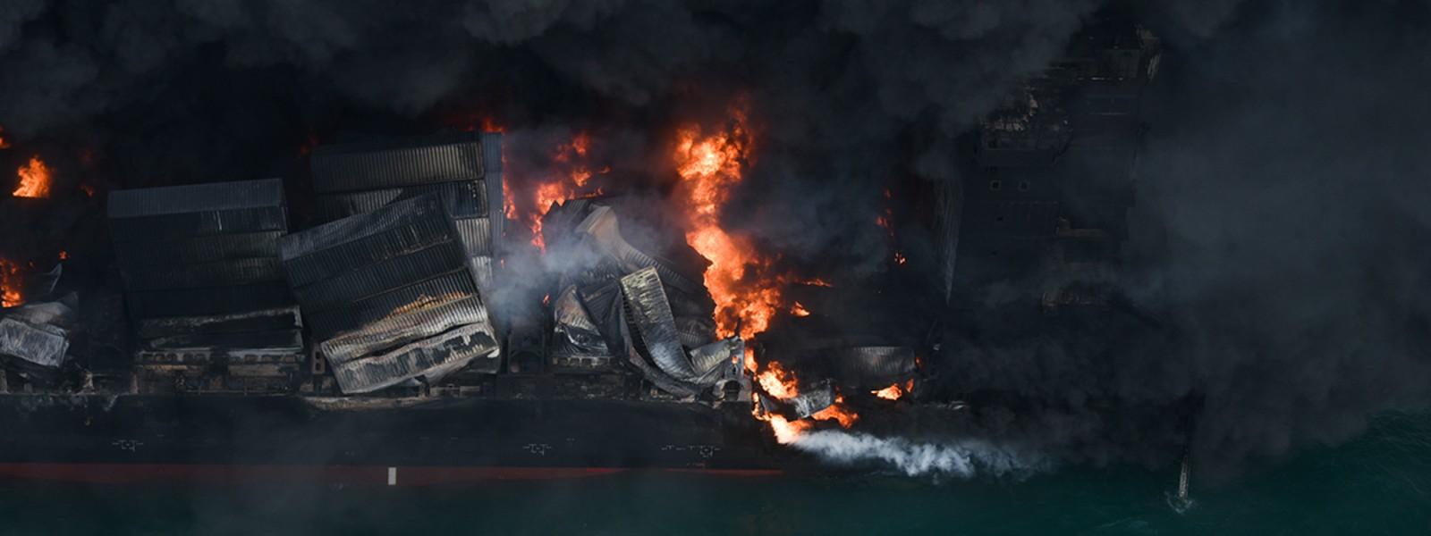 NO oil spill when X-Press Pearl was on fire; Investigators