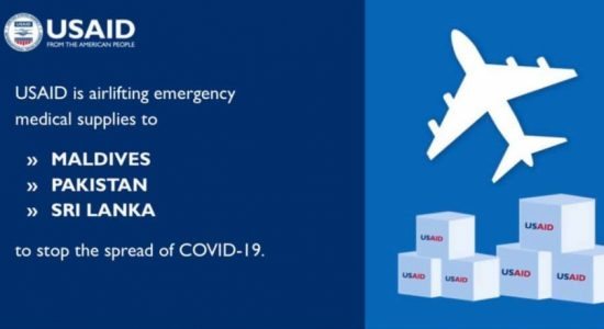 US Govt. airlifts emergency medical supplies to Sri Lanka