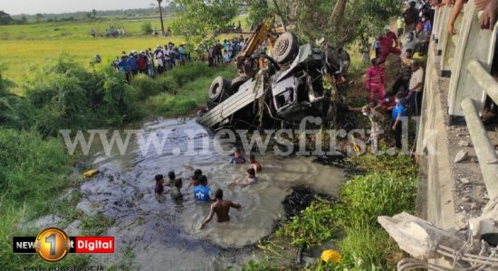 02 soldiers dead as military truck falls off bridge