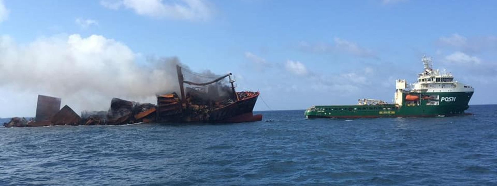 X-PRESS PEARL is sinking and it is being towed into deep seas
