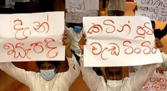 Opposition protests inside parliament against fuel hike