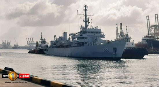 Indian hydrographic survey ship in Colombo