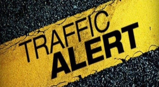 Traffic along Galle Rd will be restricted from Wellawatte on Monday (14)
