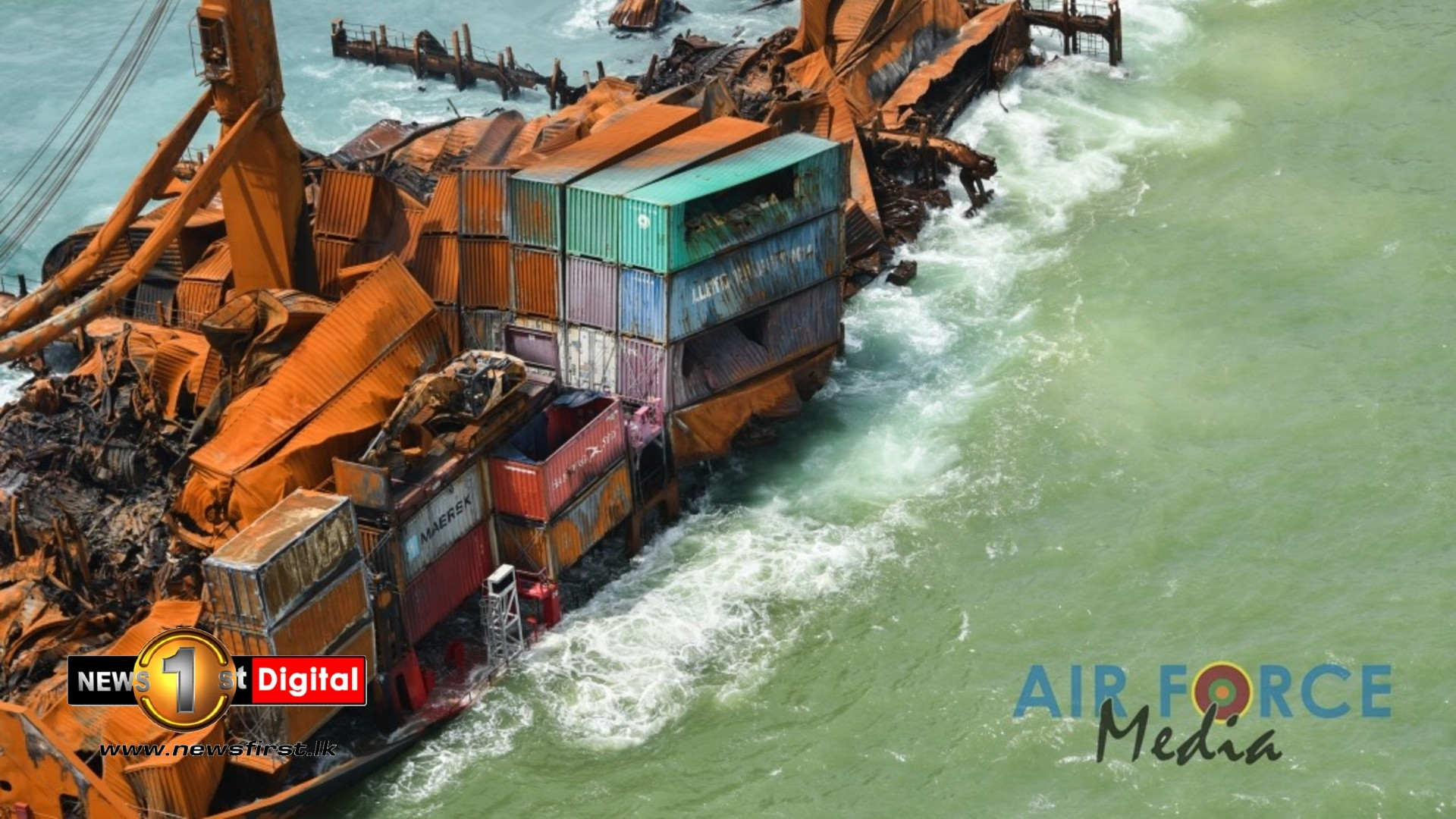 NO Oil spill from X-Press Pearl, says Dr. Godahewa; NARA to conduct tests