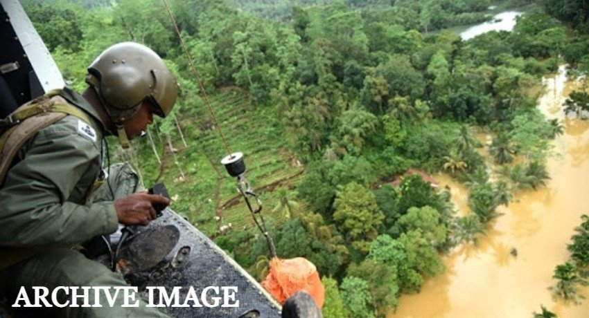 (VIDEO) Air Force releases aerial footage of flood affected districts