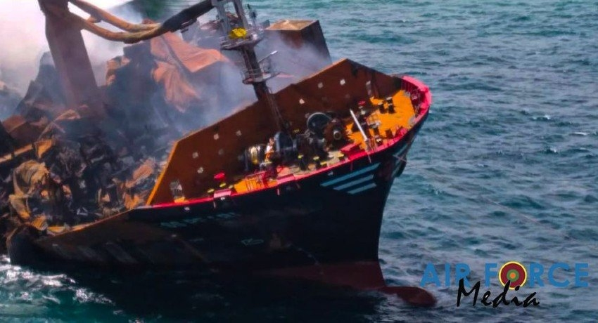 (VIDEO) X-PRESS PEARL's aft portion at a depth of 21 meters