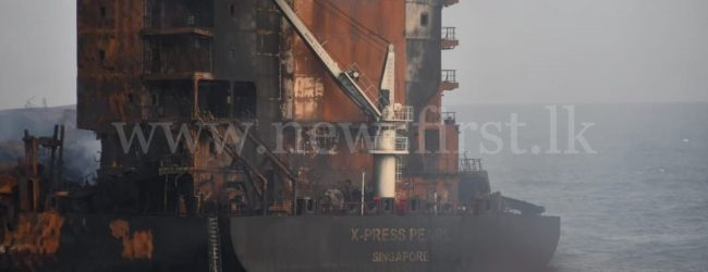 (LATEST PICTURES) Salvors onboard MV X-Press Pearl after dousing the fire