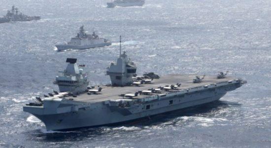 UK's Royal Navy & Indian Navy Military Exercises off Sea of Sri Lanka