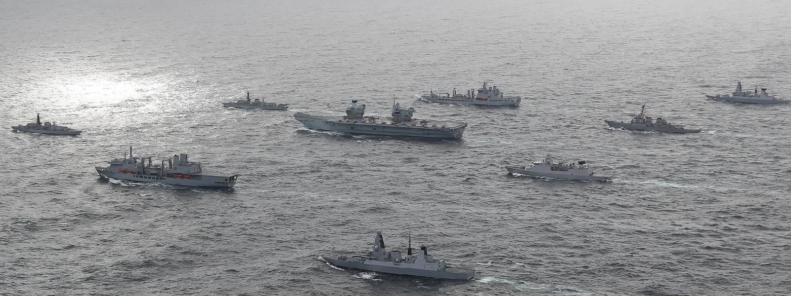 UK Carrier Strike Group reaches Indian Ocean region