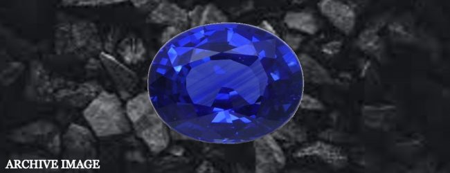 Blue Sapphire weighing 80 kg discovered from a mine in Rakwana