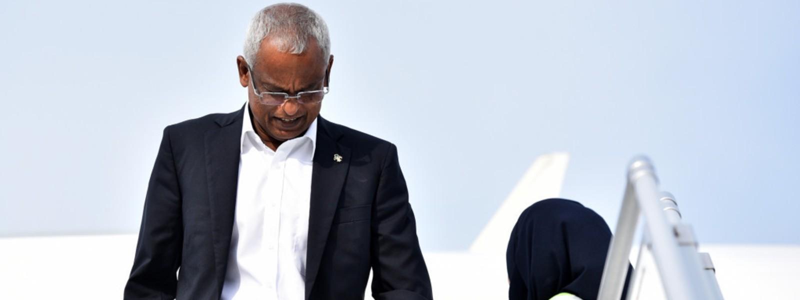 Maldives President in Sri Lanka for official visit