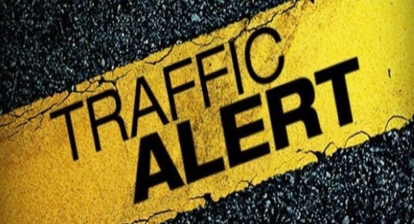 Traffic in Battaramulla due to protest by Teachers & Principals