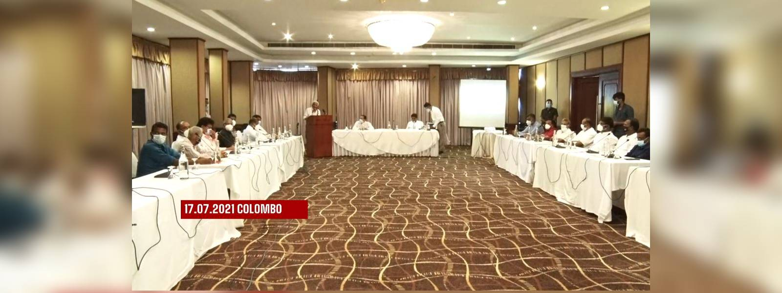 Opposition parties attend conference in Colombo
