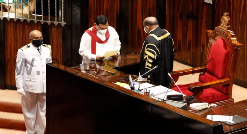 Minister Basil Rajapaksa sworn in as Member of Parliament