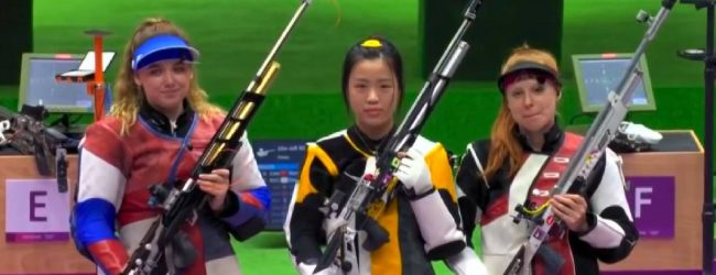 China wins first gold medal at Olympics