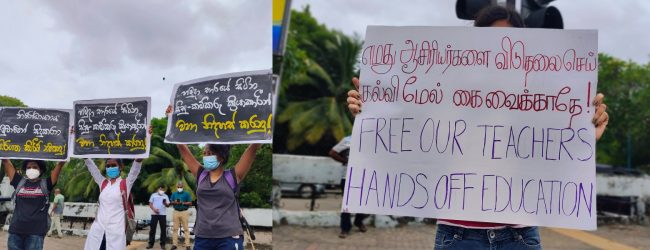 Protests in Colombo demand release of detained activists & against KDU Act