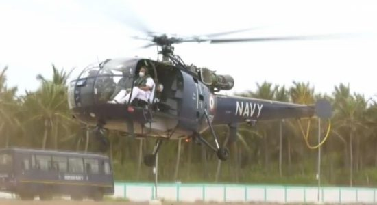 Top Indian Navy Chief undertakes aerial observation of Bay of Mannar