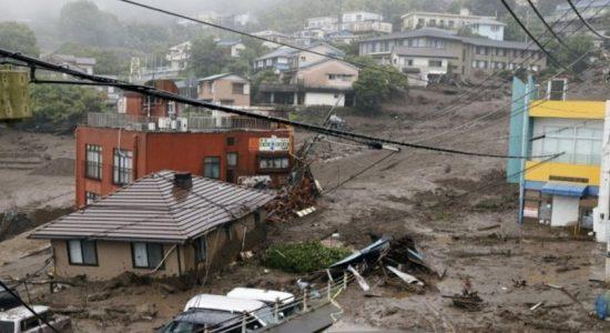 At least 20 missing as mudslide west of Tokyo hits houses