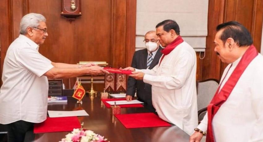 Ministerial portfolio of Finance Minister Basil Rajapaksa